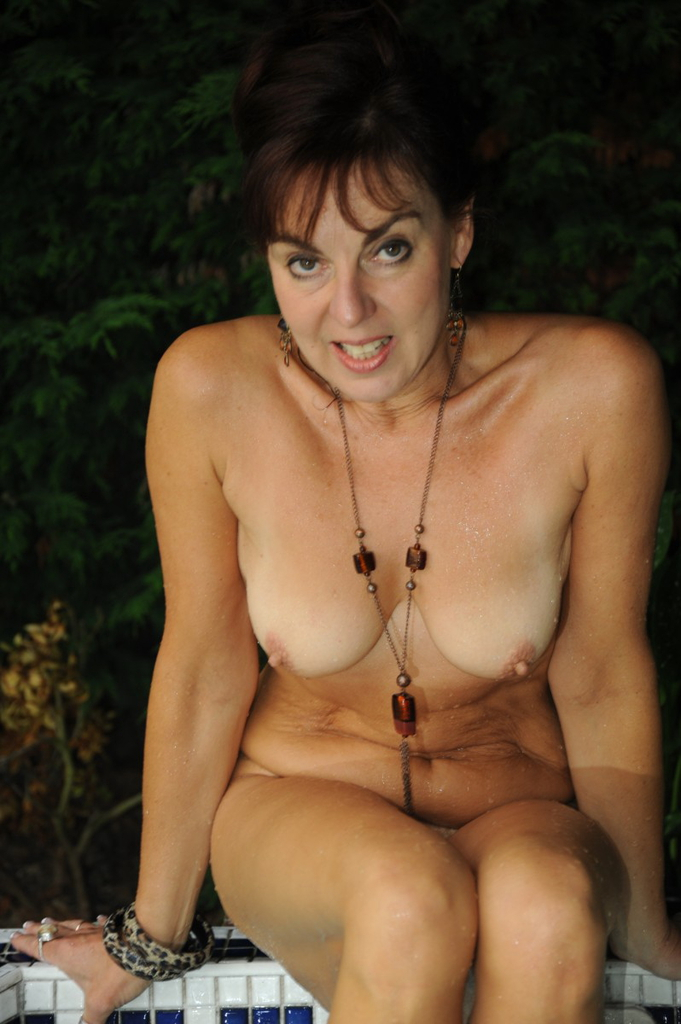 English mature bathes her giant tits amp hairy pussy 2