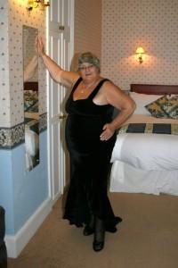 Gran dressed up